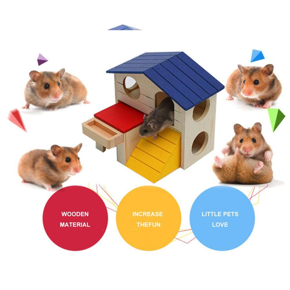 AUOKER jaulas y hábitats de hámster de Gran tamaño, de Madera Natural, para hámsters, Ratas, cobayas, Ratones, gerbos, Animales pequeños, Juguete portátil ...