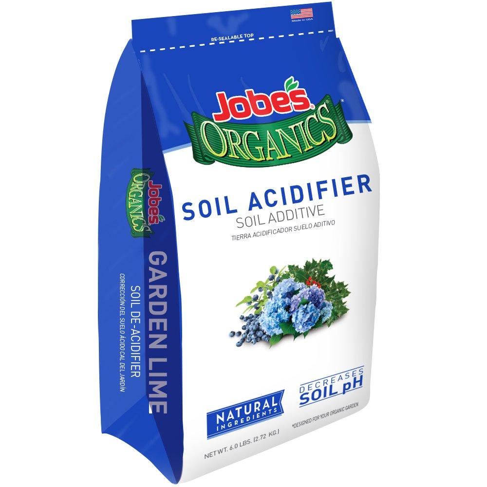 Jobe's Organics Soil Acidifier for Hollies, Blueberries and Other Acid Loving Plants, Turns Hydrangeas Blue, 6 Pound Bag