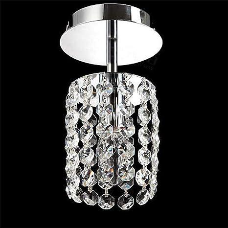 T-Tonranp Lámpara de Techo LED de Cristal Dormitorio ...
