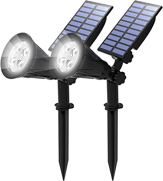 T-SUN (2 Unidades Foco Solar, Impermeable Luces Solares Exterior ...