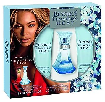 Beyonce Heat Shimmer Eau De Perfume Shower Gel And Body Lotion Gift