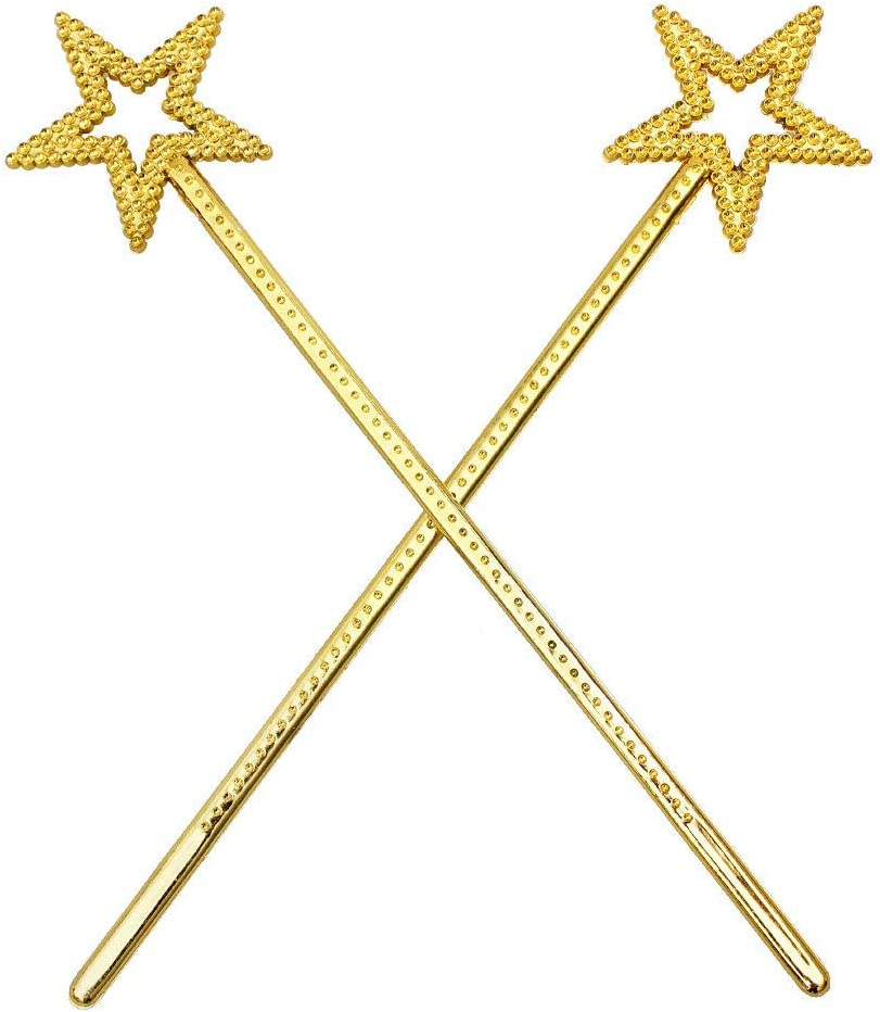 DDU D/éguisement Baguette Magique Forme d/étoile Accessoire pour c/él/ébration//F/ête//No/ël//Halloween//Anniversaire etc Argent