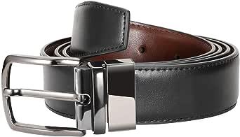 Zeuste-cinturon hombre, Cinturón Cuero Marrón Negro, Hebilla de ...