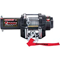 Tungsten4x4 T4000 1.6 HP ATV/UTV Electric Utility Cable Winch with Roll Fairlead, 4000 lbs Capacity