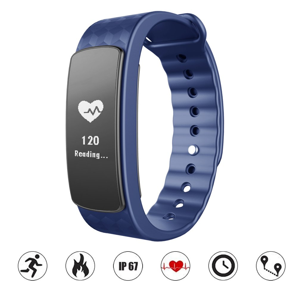Amazon.com: Waterproof Health Smart Bracelet Bluetooth 4.0 Pedometer Wristband Pedometer Fitness Monitor Activity Health Tracker Watch Sleep Monitor Watch ...