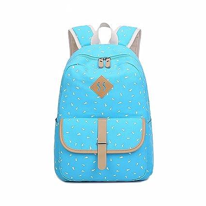 56f2b07224 Znvmi Mode Sac à dos en Toile Sacs à Dos College Fille Adolescents Backpack  Petit Modèle