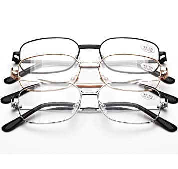 a9bdd657c9b0 Reading Glasses 1.5 For Women   Man By See 626 - Alphareader 3 Pairs Value  Packed