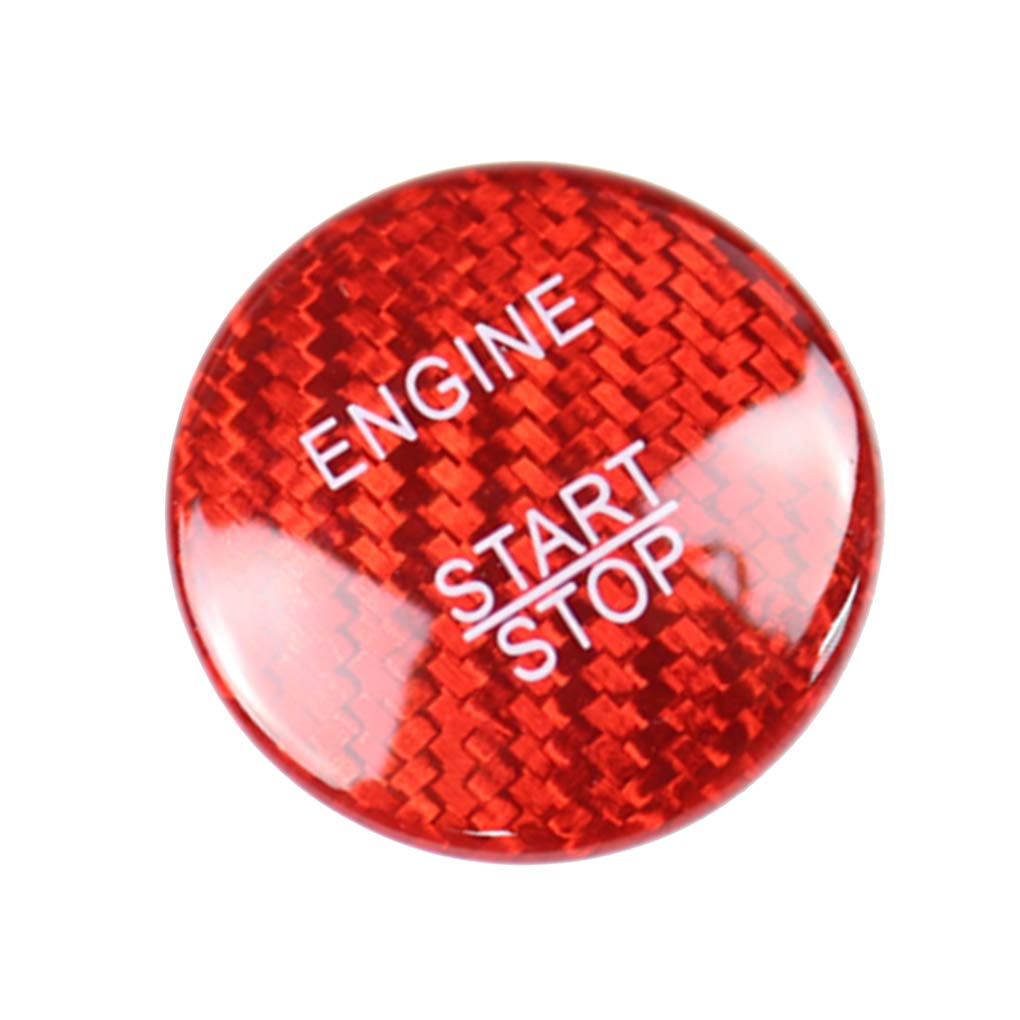 Vcospy Car Engine Start Stop Switch Carbon Fiber Button Cover Replacement For Mercedes Benz W205 GLC X253 Black