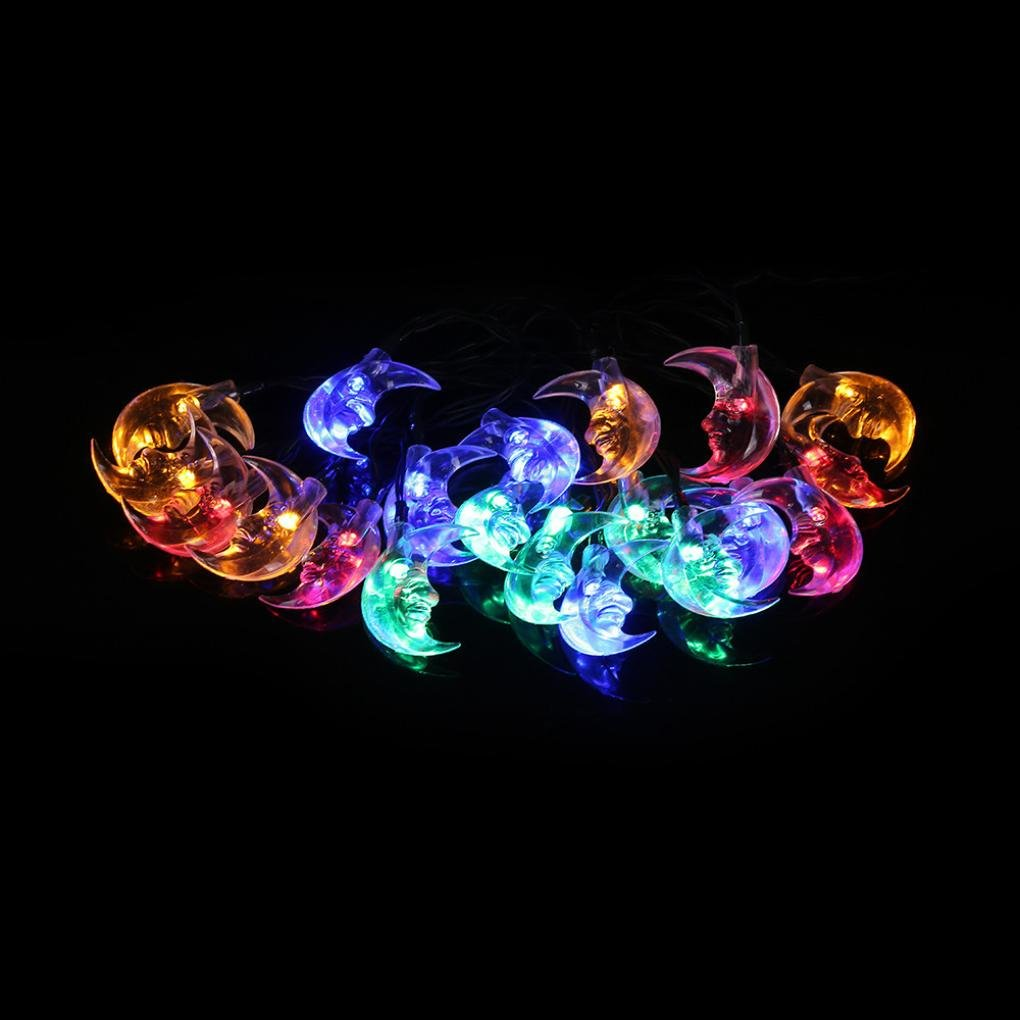 Light Bulb Chandelier,Ikevan Newest 20 LED Window Curtain Lights String Star Lamp House Party Decor Striking (Multicolor)