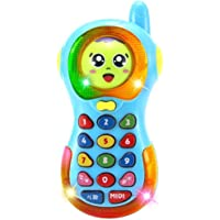 Shanaya Toys Smart Musical Changing Face Mobile Phone for Kids, Early Education Toys with Music and Light