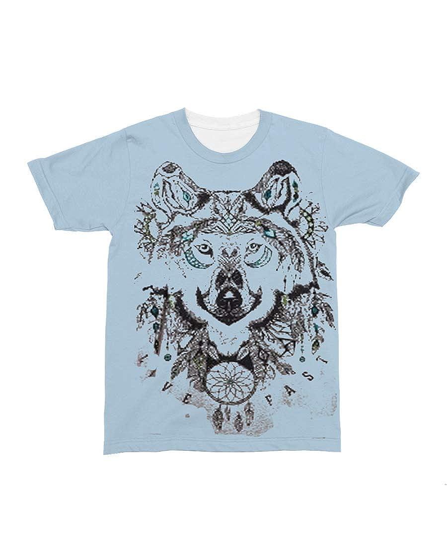 Donna Moritzs Concho All-Over T-Shirt Light Blue L