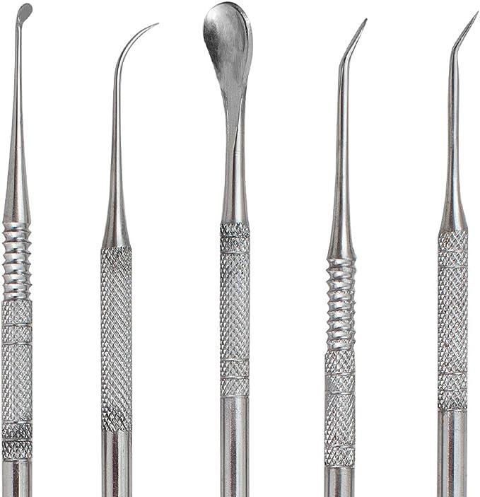Laboratorio Dentale Apparecchiatura Cera Carving Tool Set 10 Pcs Denshine Set di 10 Attrezzi per Scultura Intagliata nella Cera in Acciaio Inox con Custodia