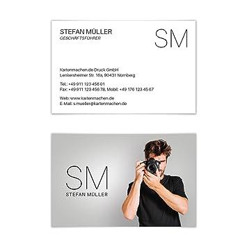 200 X Visitenkarten Individuell Business Karten 300g Qm 85 X