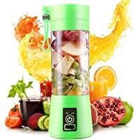 Electric USB Juicer Blender Portable Juice Cup 380ml Water Bottle Juicer Machine with 4 Blades, 2000mAh Rechargable Battery