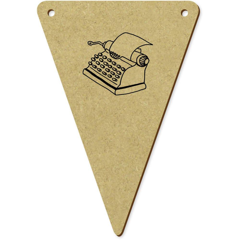 Azeeda 5 x 100mm Máquina de Escribir Banderines / Banderas (BN00038261): Amazon.es: Juguetes y juegos