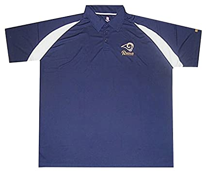 a70376bba Los Angeles Rams NFL Mens Dri Fit Polo Golf Shirt Navy Blue Big Sizes (5XL