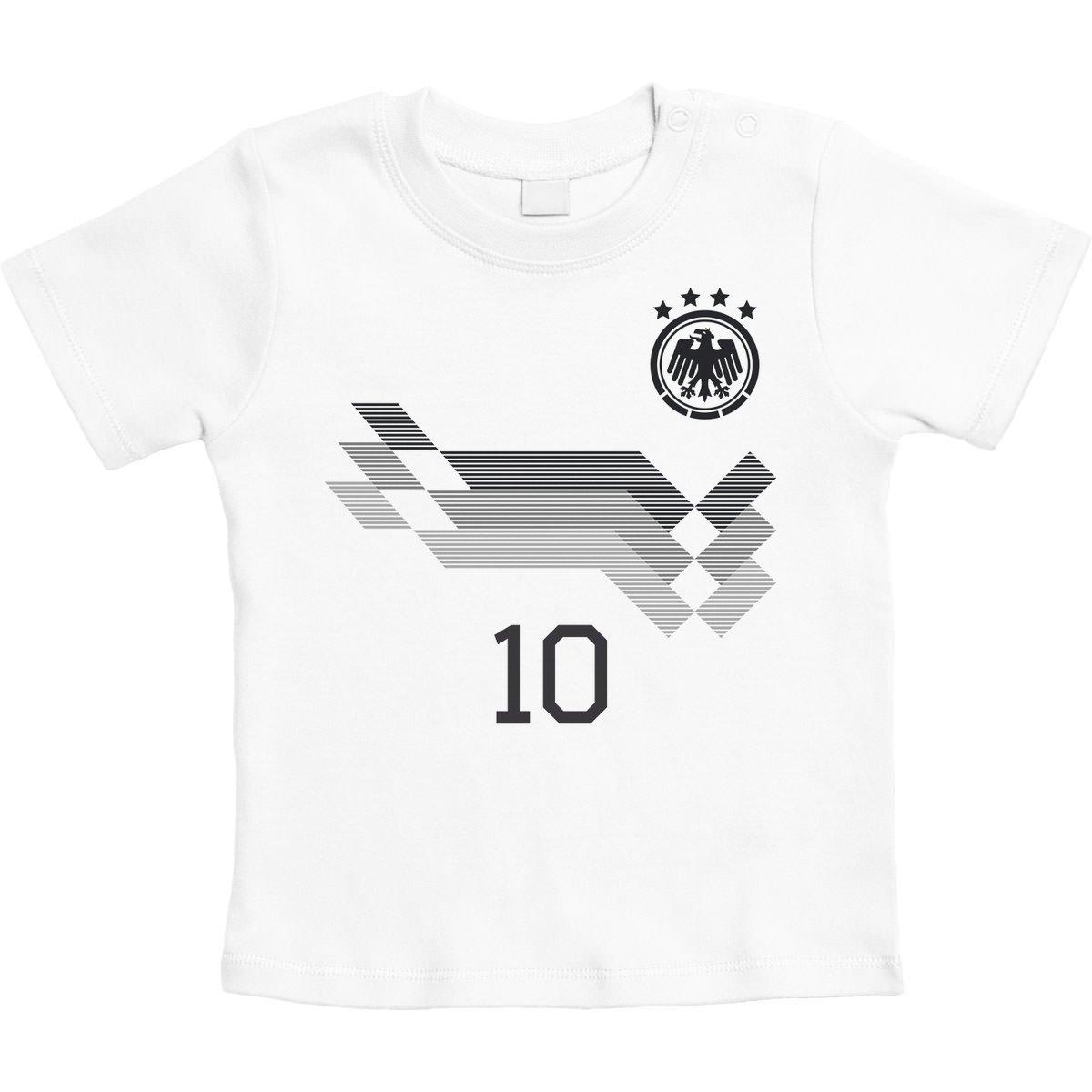 NR rot Druck NAME Dänemark Kinder BABY BODY Größe WM 2018 T-Shirt Trikot