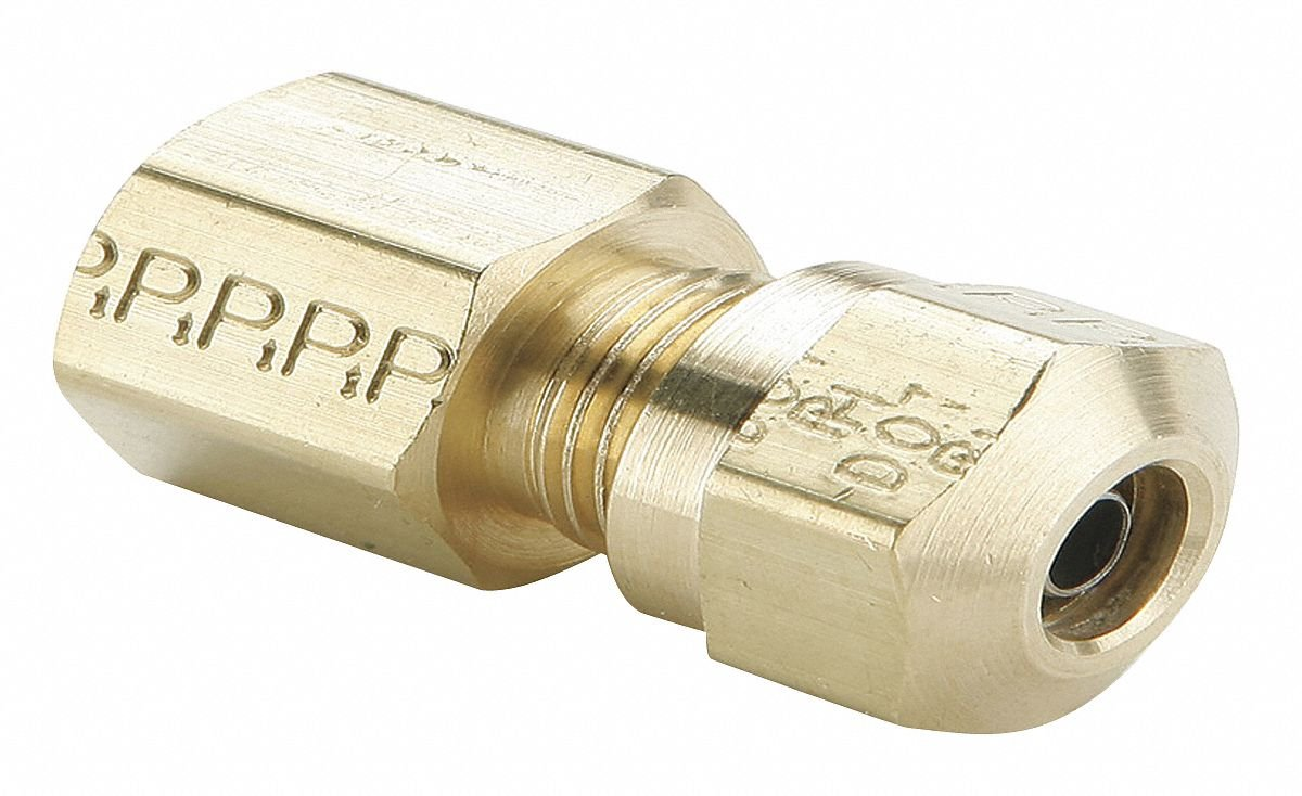 Brass Compression Style Fitting for J844 Tubing-NTA Parker 66NTA-8-6-pk20 Air Brake D.O.T Compression and Female Pipe Connector Pack of 20 1//2 and 3//8 Tube to Female Pipe Pack of 20 1//2 and 3//8