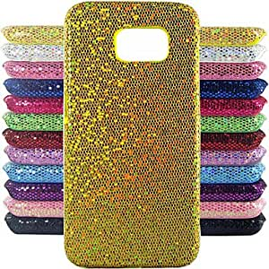 YULIN Glitter Powder Design Pattern Cover Hard protection Hard Cover for Samsung Galaxy S6 edge G9250 (Assorted Colors) , Green