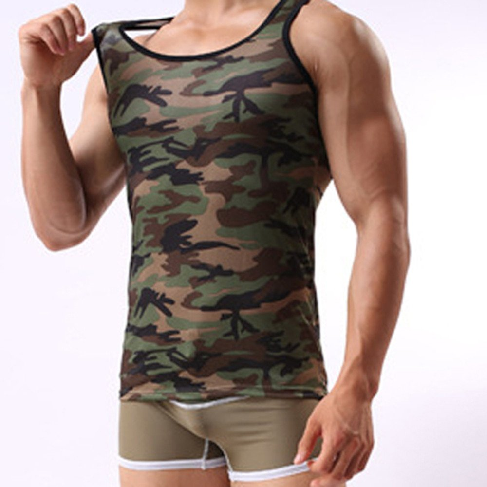 Men's Camouflage Vest, Sportswear Tank Top Military Sleeveless,SUNSEE TEEN NEW by Sunsee (Image #3)