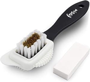 Miscly Suede & Nubuck 4-Way Brush + Eraser - Premium Shoe Cleaner Kit