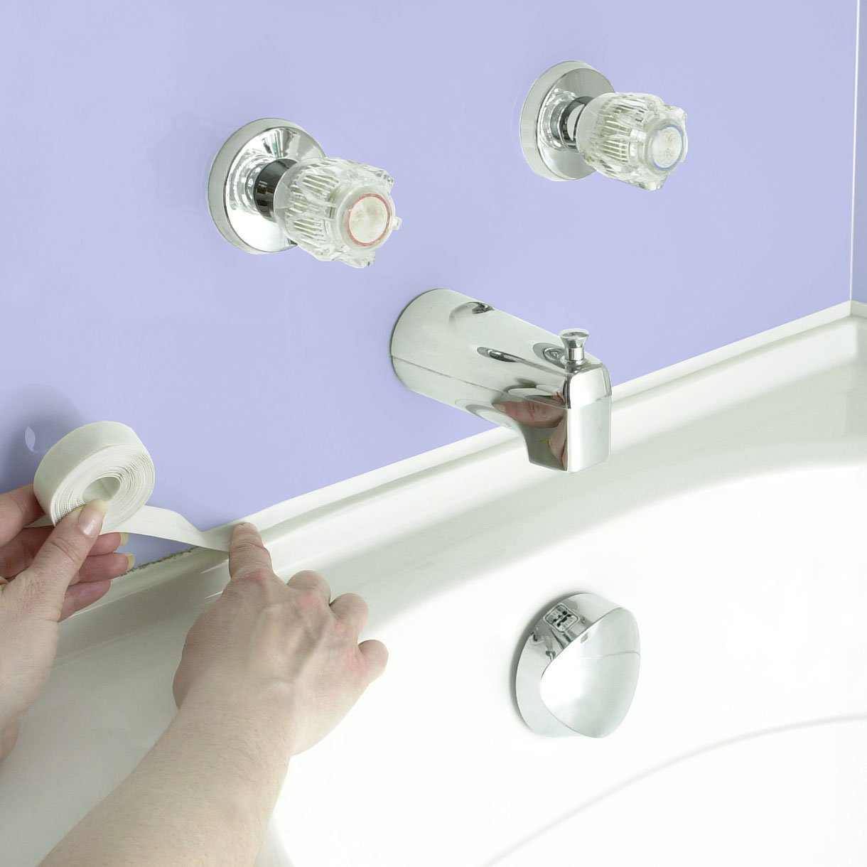Hampton Direct Set Of 2 Adhesive Waterproof Caulk Tape White Tub ...
