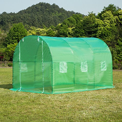 Ideal Choice Product Outdoor Large Size Walk-In Tunnel Green House,Portable Greenhouse Screen Plant Gardening House, Plant Protector,UV Protected Green Hot House W/6 Side Vent by Ideal Choice Product