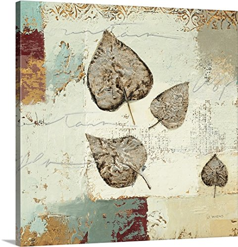 Silver Leaves Wall Art (James Wiens Premium Thick-Wrap Canvas Wall Art Print entitled Silver Leaves I 20