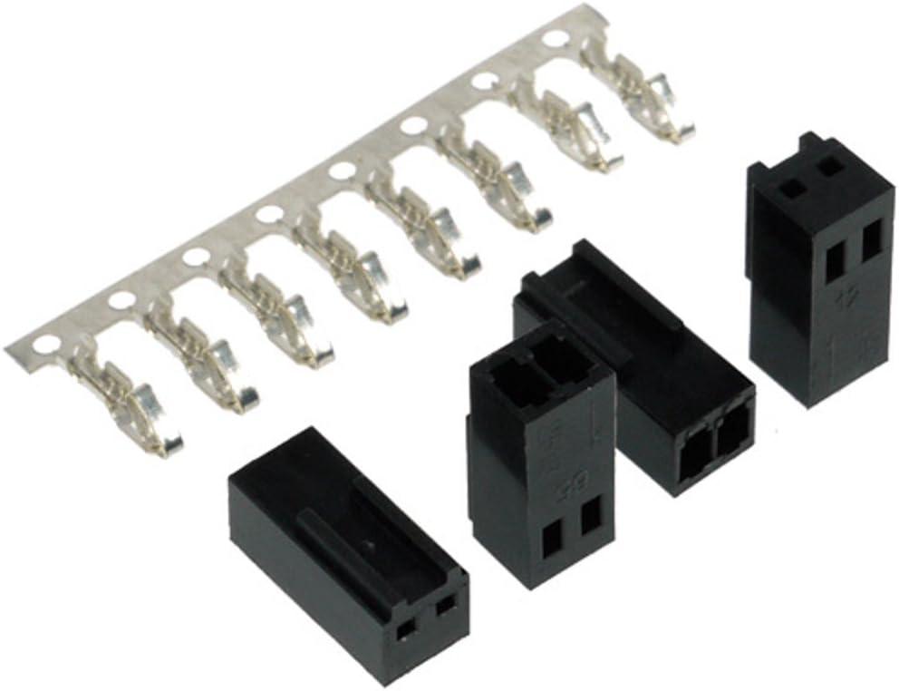 Femelle y Compris 3 Broches 5 pi/èces Noir C/âbles Connecteur Phobya Connecteur Alimentation Ventilateur 3 Broches