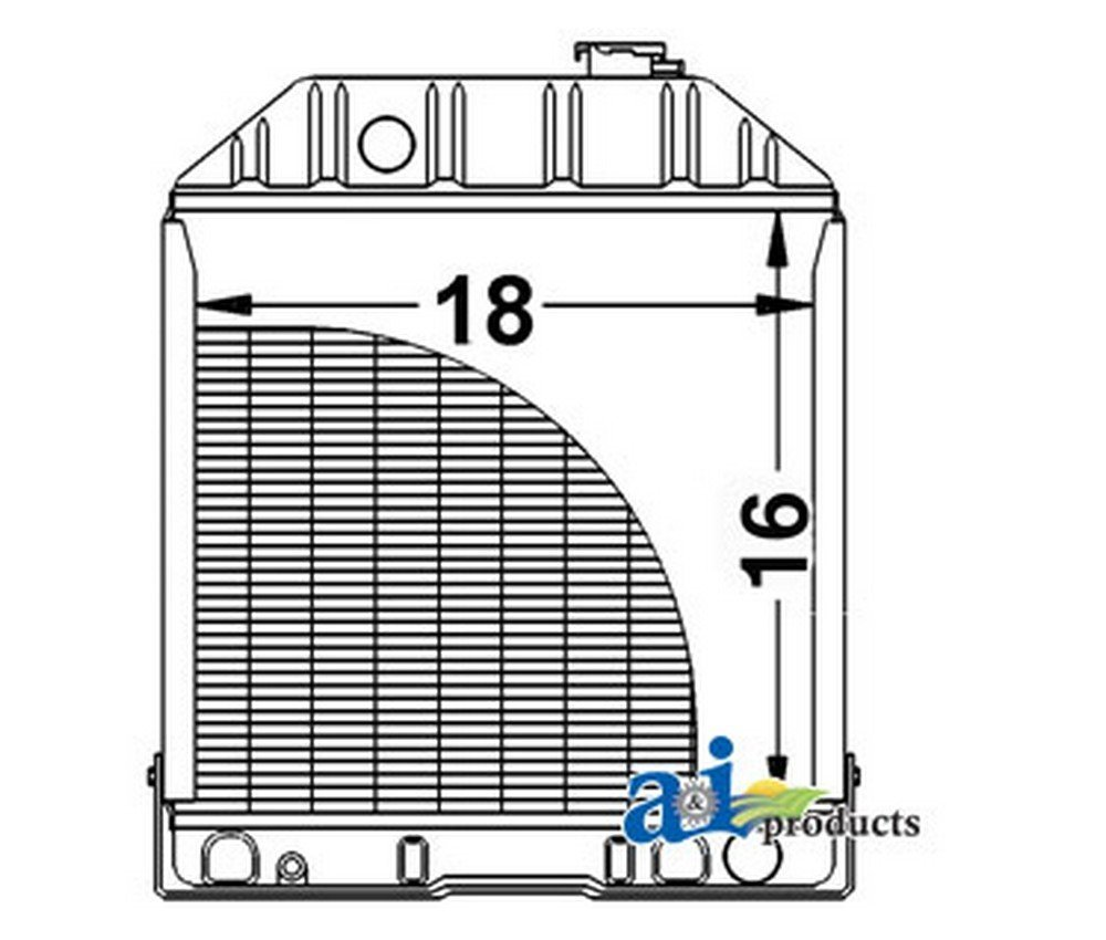 A And I D8nn8005pa Radiator W Oil Cooler For Ford 8n Torque Specs New Holland Industrial Construction Tractor Scientific
