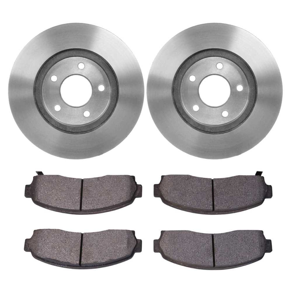 Prime Choice Auto Parts RSCD65082-65082-913-2-4 4 Front Ceramic Brake Pads and 2 Front Brake Rotors