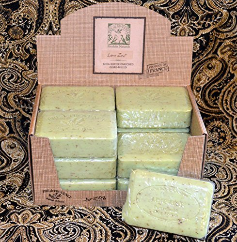 Case of 12 Pre de Provence Lime Zest 250 gram shea butter extra large soap bars