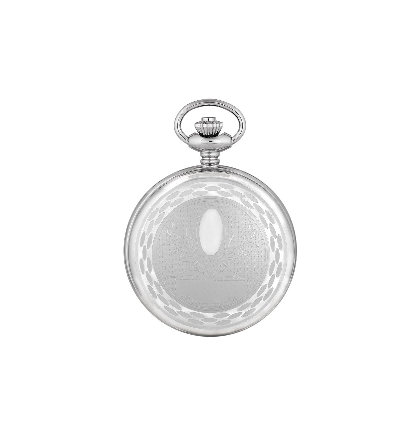 Charles-Hubert, Paris Premium Collection Stainless Steel Mechanical-Hand-Wind Pocket Watch (Model: DWA006) by CHARLES-HUBERT PARIS