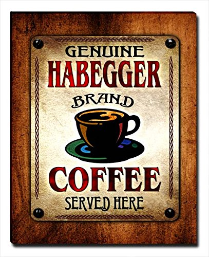 ZuWEE Habegger's Coffee Family Name Gallery Wrapped for sale  Delivered anywhere in USA