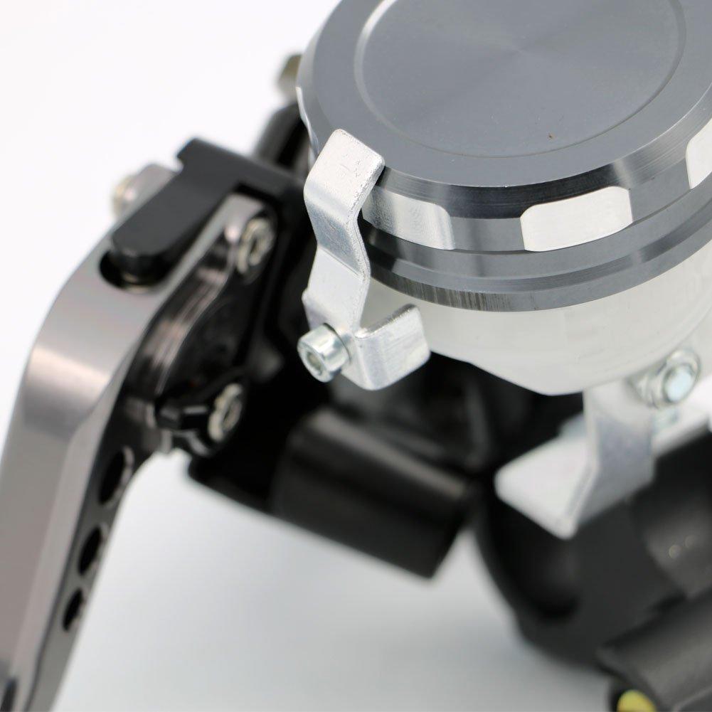 Alpha Rider 7//8 CNC Brake Clutch Master Cylinder Lever Fluid Reservoir Fit For Kawasaki Ninja ZX10R 2004-2014 Ninja ZX9R 1998-2003 Ninja ZX12R 2000-2005
