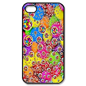 IPhone 4/4s Cases Colorful Bubble For Guys Design, Iphone 4s Case Case For Guys Design [Black]