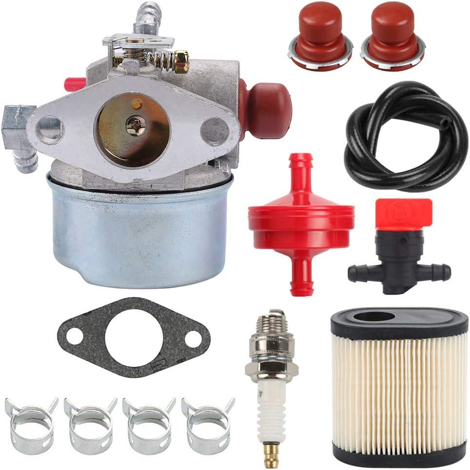 Mannial Carburetor Carb with 36905 Air Filter fit Tecumseh 640350 640303 640271 640173 640174 640262 640262A LEV100 LEV105 LEV120 LV195EA LV195XA 6.75 HP Engine Toro 20016 20017 20018 Lawn Mower