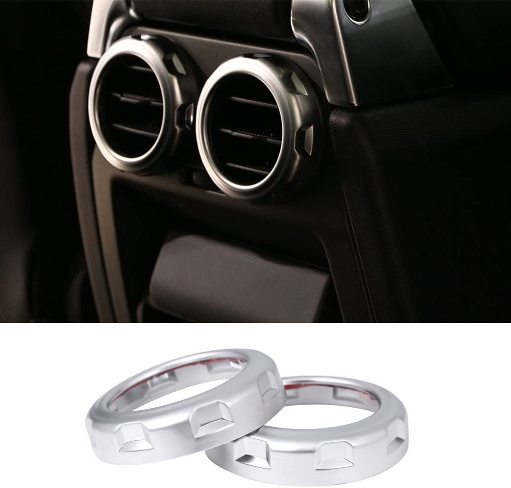 Auto accessori auto styling posteriore uscita aria Vent anello Trim sticker ABS Chrome interior decorazioni
