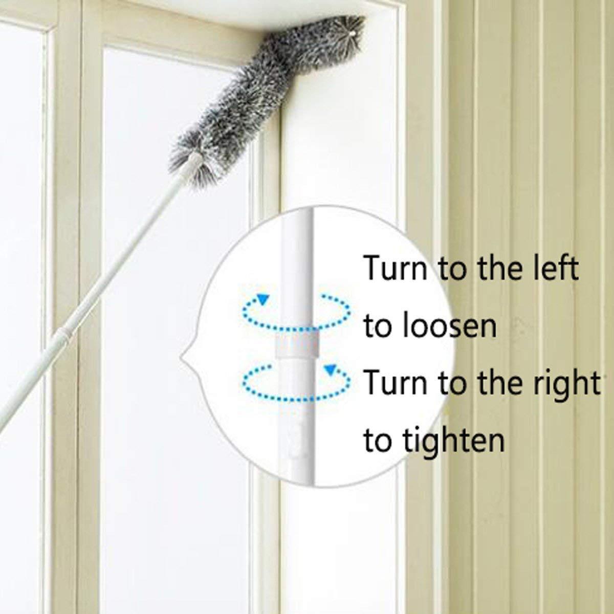 chiffon /à long manche pour le toit int/érieur plumeau moelleux ventilateur de plafond Home /Éplucheur en toile daraign/ée avec perche extensible t/élescopique sec ou humide Utilisation