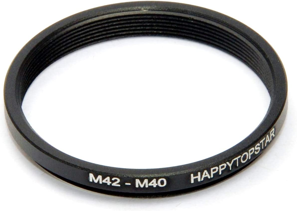 Metal M42 to M40 Male to Female 42mm to 40mm M42-M40 Step-Down Coupling Ring Adapter for Lens Filter