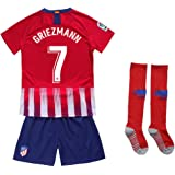 Whatrce Glfosenrs #7 Griezmann 2018/2019 Season Atletico Madrid Youths/Kids Home Soccer