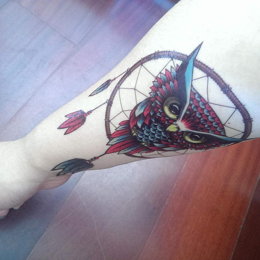 Kit Tatuajes Temporales Niños Búho Falso Tatuaje Temporal Color De ...