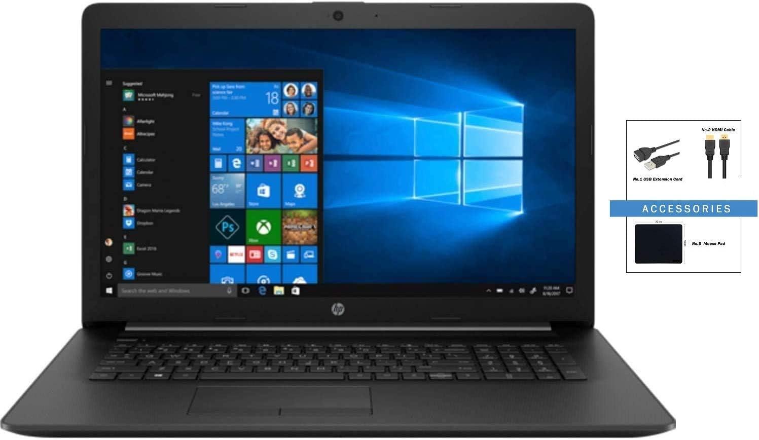 "HP 17z 17.3"" FHD IPS Anti-Glare WLED-Backlit Laptop Bundle Woov Accessory | AMD Ryzen 5 3500U | 12GB RAM | 256GB SSD | DVD-Writer | AMD Radeon Vega 8 Graphics | Windows 10 Home 64 | Black"