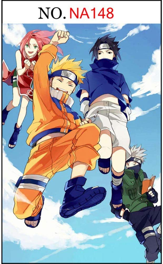 Lee My Wooden Puzzle Home Puzzle Game Anime Puzzle Naruto DIY Jigsaw Puzzles Mosaic Art - Partners Under The Blue Sky and White Clouds,300 Pieces