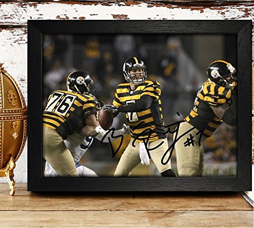 FRAMED Ben Roethlisberger Signed Autographed Photo 4x6 Reprint RP PP - Pittsburgh Steelers