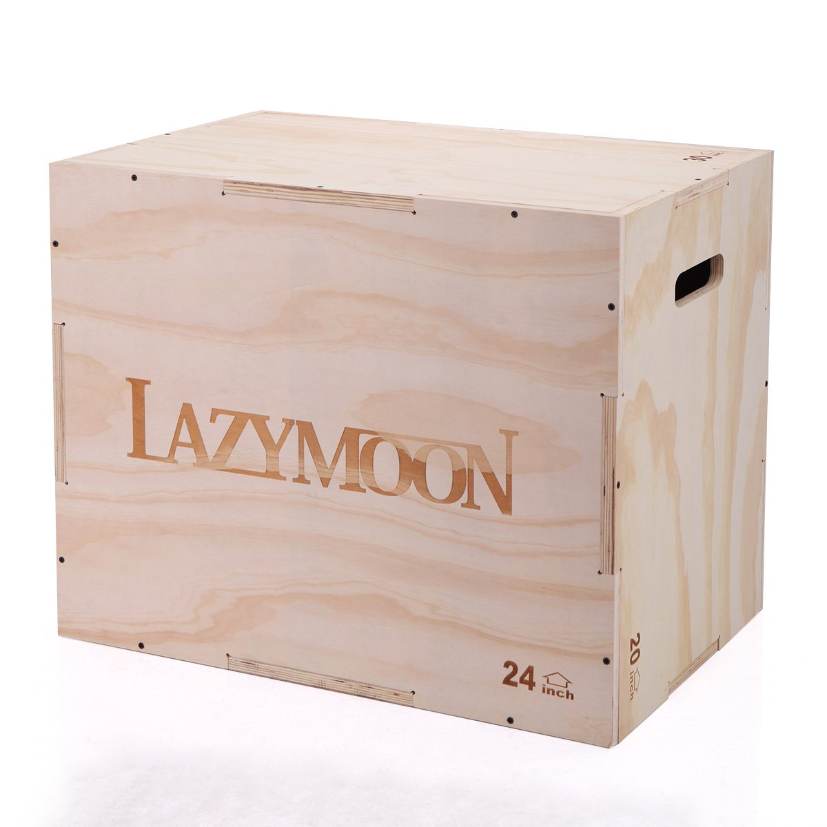 LAZYMOON 3 in 1 Wooden Plyo box 20x24x30 Inch CrossFit Plyometrics Jumping Trainer Box Platform