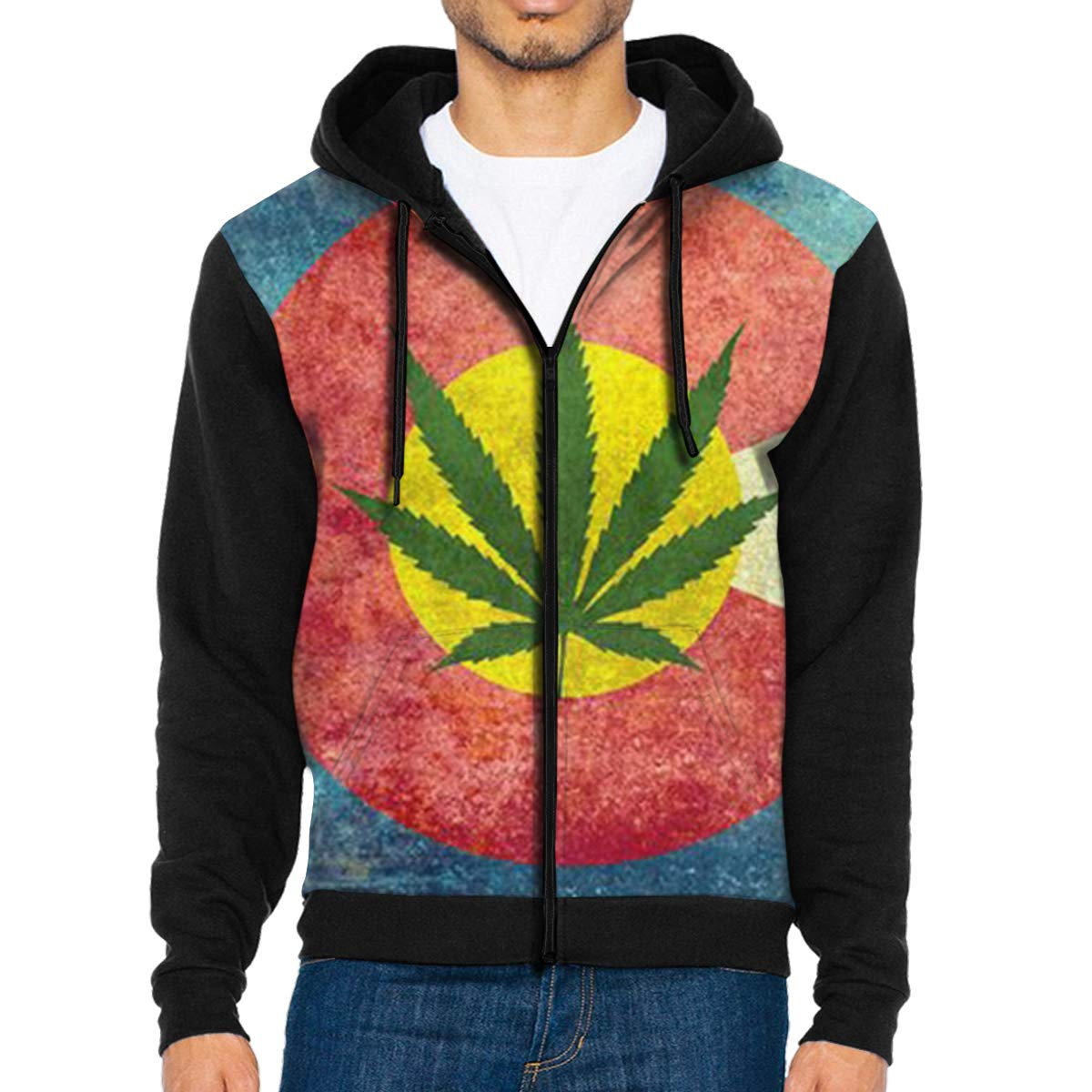 G-Fulling Retro Colorado Flag 3D Print Fashion Men's Hooded Sweatshirts Drawstring Pullover Hoodies Pockets