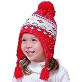 656e94480c87 Zoylink Chapeau Bébé Bébé Chaud Chapeau D hiver Bébé Bonnet Earflap Bonnet  Enfant Pour Noël