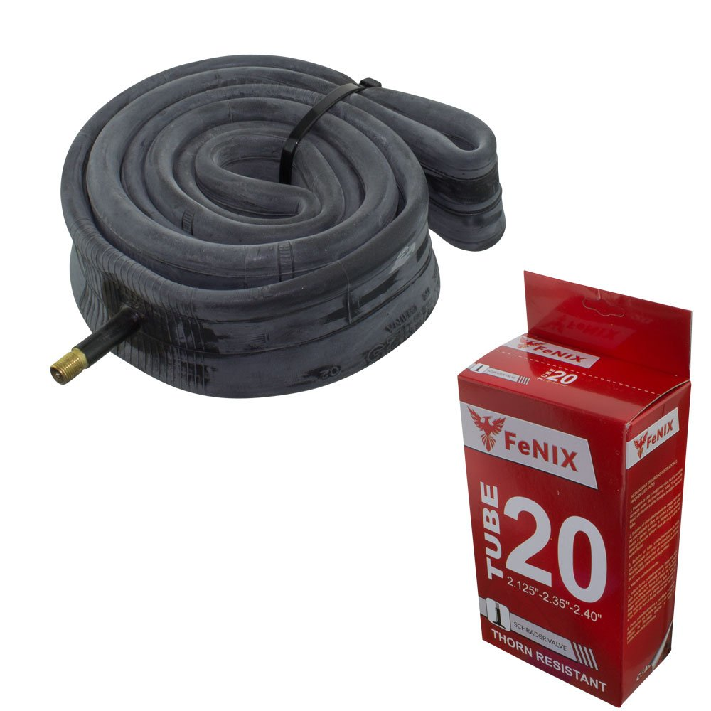 Fenix 20'' x 2.125''/2.35''/2.40'' Thorn Resistant 33mm Schrader Valve Bicycle Tube