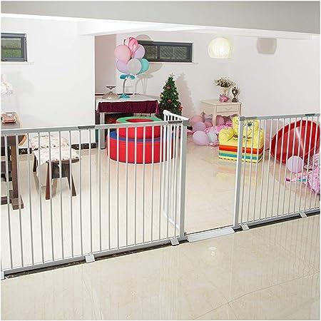 ZEMIN Sin Pérdida Decoración Barrera De Seguridad Escalera Puerta for Niños Perros Inodoro Rebote Automático, Ancho Escalable, H 78CM (Color : White, Size : W207~215cm): Amazon.es: Hogar